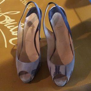 Authentic Christian Louboutin Gray/gray heels